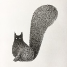 fluffy-black-cat-ink-drawings-kamwei-fong-18